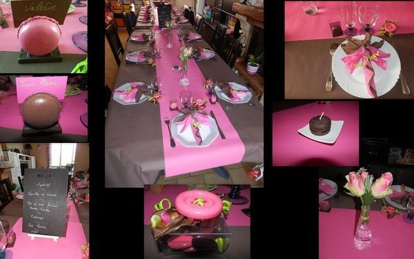 Mes creations - Idee decoration de table pour communion fille ...