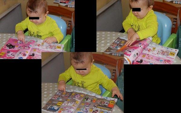 Thomas chevauche sur les jouets